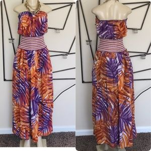 BCBG SUMMER MAXI DRESS SZ S